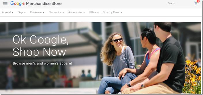 Google Merchandise Storeのトップ画像